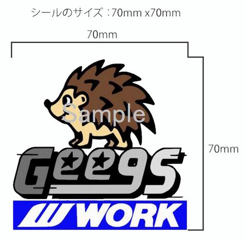 [Gee9s×WORK] オリジナルステッカー