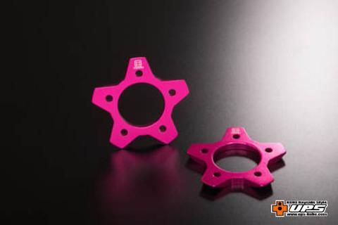【t4works】ビレットインナー[スターディスク] 2個入り ボルト付き ピンク