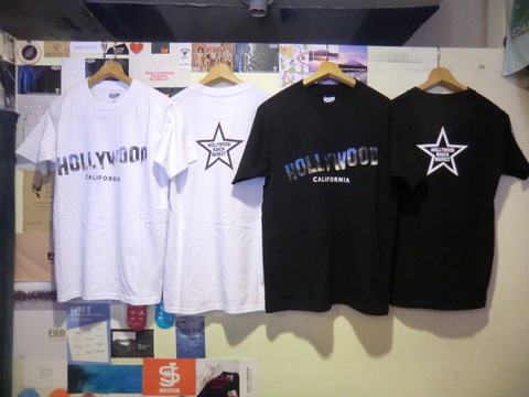 SCREEN STARS HRM PALM TREE HOLLYWOOD T SHIRTS