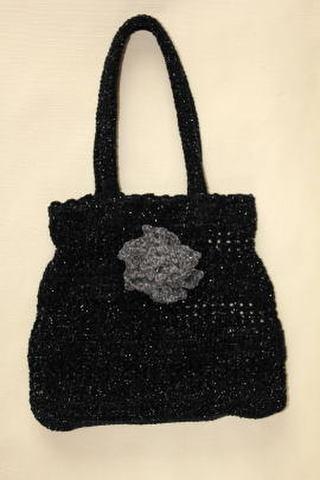 キラキラニットバッグ(黒)