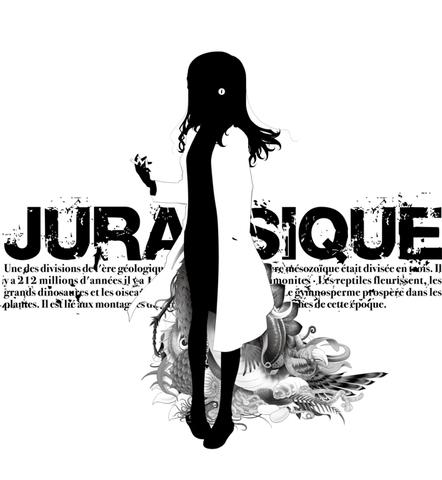 ジュラ紀の女シルエット