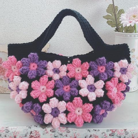 【受注製作】お花モチーフのグラニーバッグ