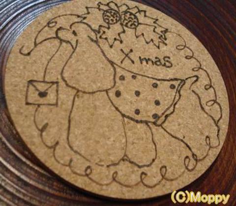コースター丸型(クリスマス)3
