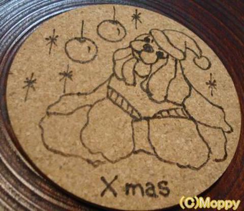 コースター丸型(クリスマス)5