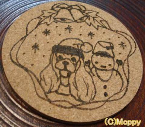 コースター丸型(クリスマス)6