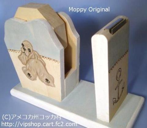 セロテープホルダー おちりんぼコッカー(バフ)