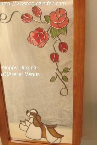 飾りミラー(薔薇とコッカーRW)