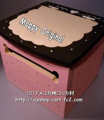 MoppyロールペーパーBOXピンクドット柄(Aコッカー全毛色オーダー受付)