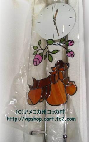 ガラスの振り子時計(Aコッカー・バフ)