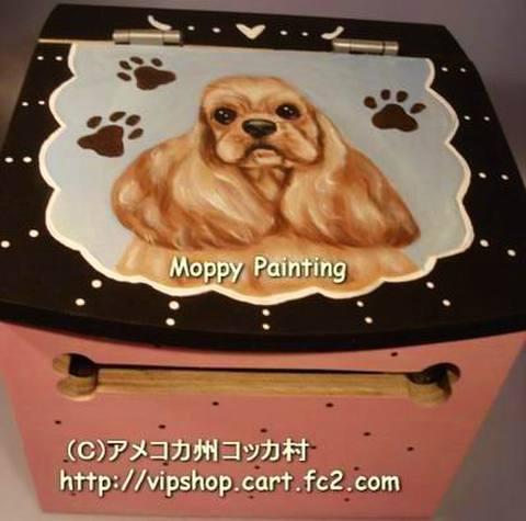 Moppyロールペーパーホルダー(ドットピンク・Aコッカー ゴールデンバフ)