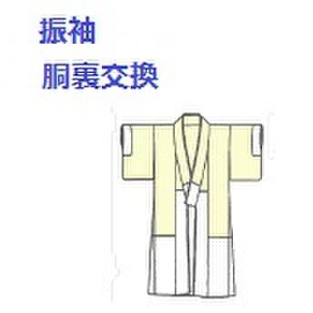 振袖の胴裏交換15000円(税別9