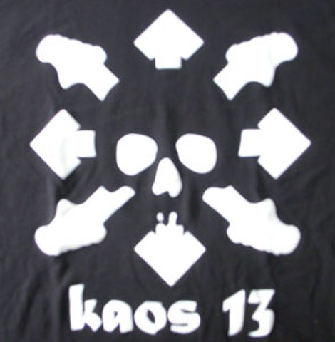 KAOS 13 ny la T-shirts BLACK