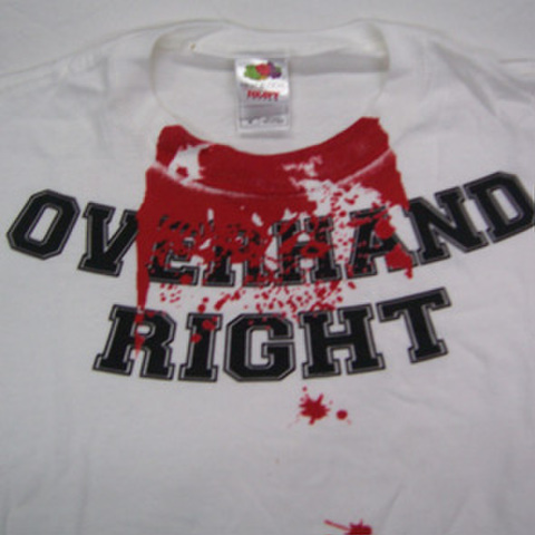 OVERHAND RIGHT blood T-shirts