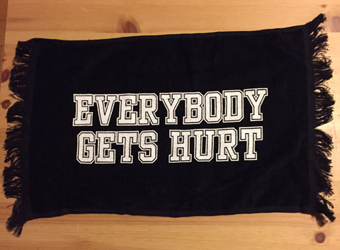EVERYBODY GETS HURT handtowel