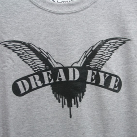 DREAD EYE cock sparrer RIP OFF T-SHIRTS GRAY