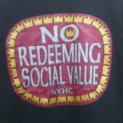 NO REDEEMING SOCIAL VALUE old-e T-shirts