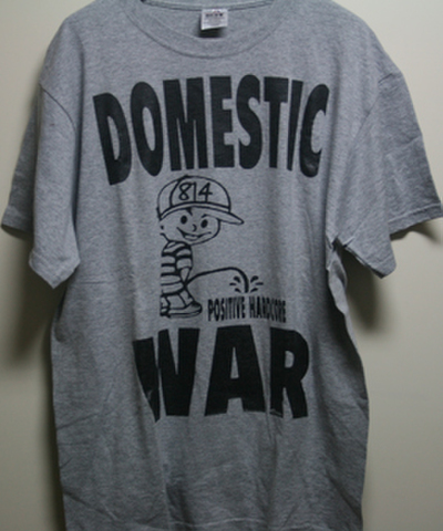 DOMESTIC WAR negative hard core T-SHIRTS ( USED )