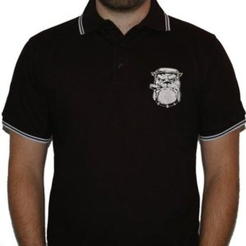 SHEER TERROR bulldog POLO SHIRTS