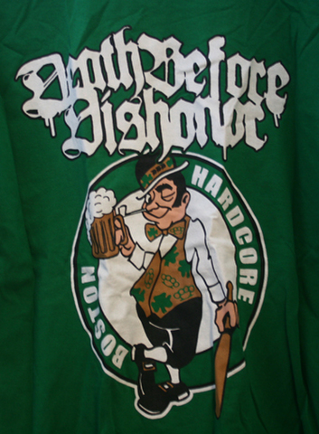 DEATH BEFORE DISHONER celtics hard core T-SHIRTS