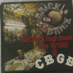 BRICK BY BRICK bad days & tough breaks live 7inch