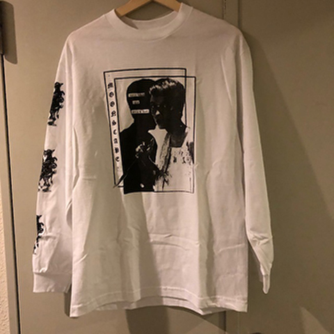 MOONSCAPE long sleeve T-SHIRTS WHITE