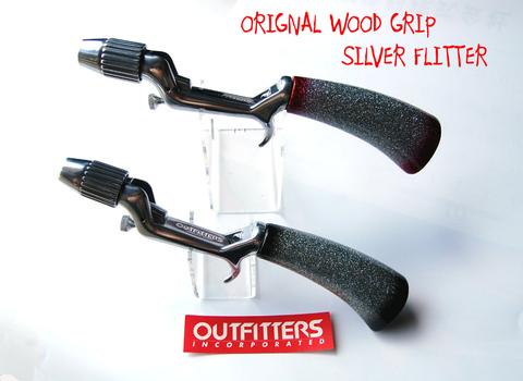 ORGINAL WOOD GRIP SILVER FLITTER RED&BLACK