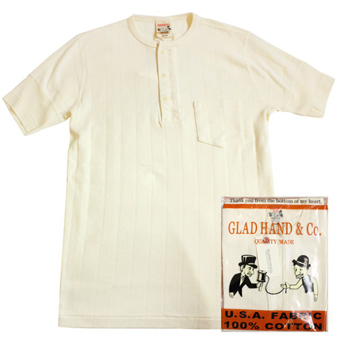 GLAD HAND-24 DROP STITCH HENRY POCKET WHT