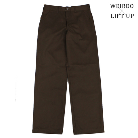 "weirdo19SS LIFT UP  W&L Pants""BROWN"""