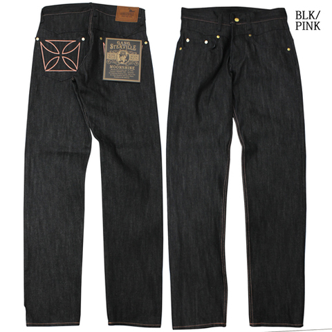 "GANGSTERVILL THUG""SLIM""_DENIM""IRONCROSS"" DENIM RIGID【BLACK】"