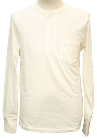 GLAD HAND-26 STANDARD HENRY POKET L/STee WHT