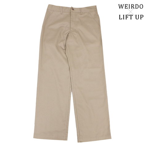 "weirdo19SS LIFT UP  W&L Pants""BEIGE"""