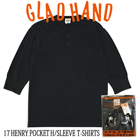 GLAD HAND-17 HALF HENRY PKT BLK