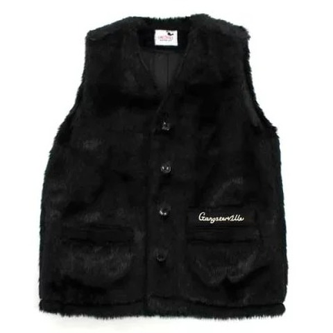 gangstervill 19AW08 RISE ABOVE_FUR VEST