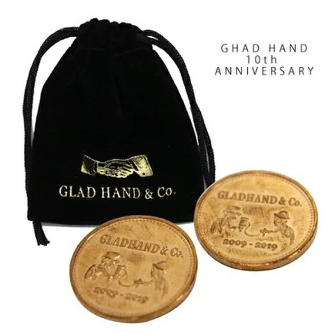 GLAD HAND MEDAL 10th ANNIVERSARY BRONZE