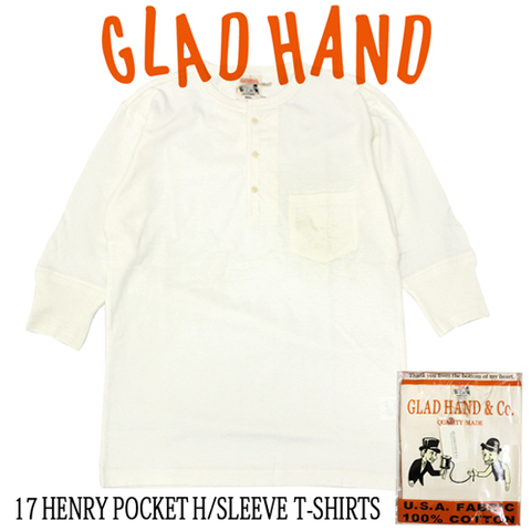 GLAD HAND-17 GH-17 HALF HENRY WHT
