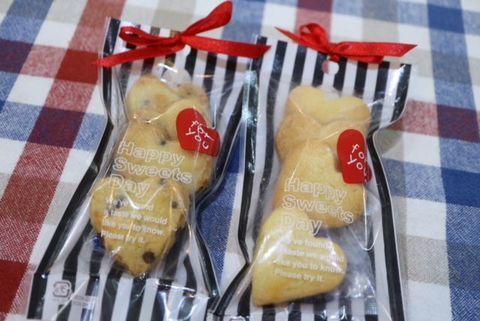 ハートクッキー(チョコチップ)