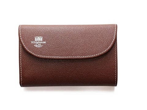 S7660 3 FOLD WALLET-London Calf-BROWN × NAVY