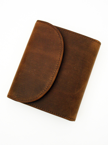 OW-1058-Small 3 Fold Wallet-Brown