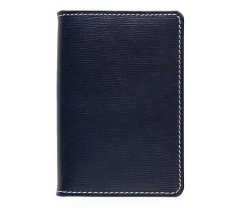 S7412 NAME CARD CASE Regent Bridle NAVY×YELLOW