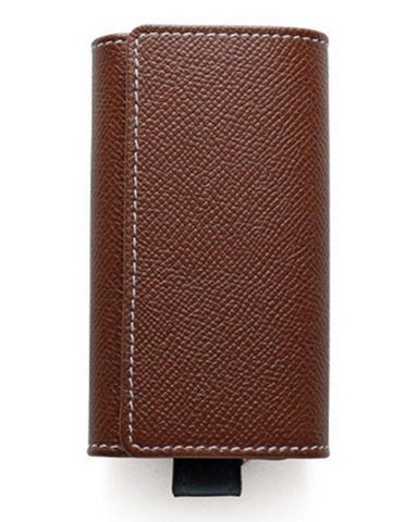 S9692 KEY CASE LondonCalf-BROWN × NAVY