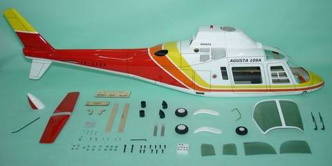 700クラス用 Agusta 109A   RED(FUN-Key)予約