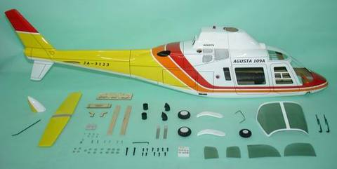700クラス用 Agusta 109A   YELLOW(FUN-Key)予約