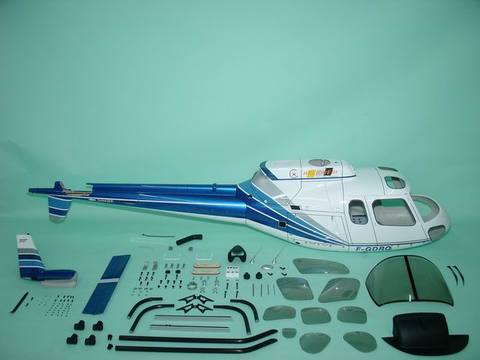 Fun-key AS350 size Blue and White   EP550-600(GP50)クラス用ボディ※予約受付