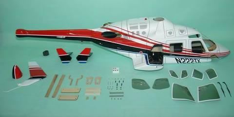 700クラス用 Bell222 赤(FUN-Key)予約