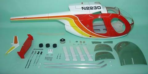 700クラス用 Hughes 500D  RED(FUN-Key)予約