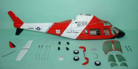 FUN-KEY アグスタ109A coast Guard   EP550-600(GP50)クラス用ボディ※予約受付