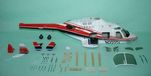 600クラス用 Bell222 赤(FUN-Key)予約