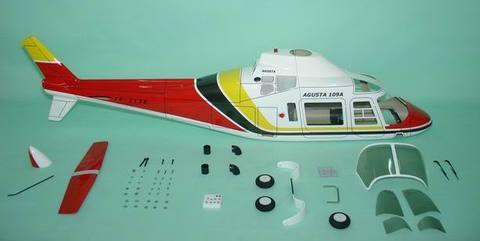 FUN-KEY アグスタ109A RED   EP550-600(GP50)クラス用ボディ※予約受付