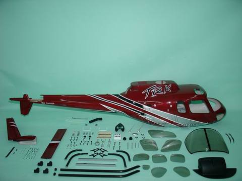 Fun-key AS350 size Silver Red  EP550-600(GP50)クラス用ボディ※予約受付