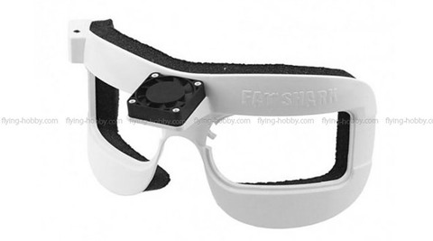 FatShark Fan equipped faceplate for DOMV2/HD (White Edition)
